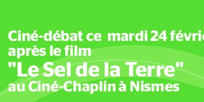 """24 févrer 2015 – Ciné-débat """"Le sel de la Terre"""""""